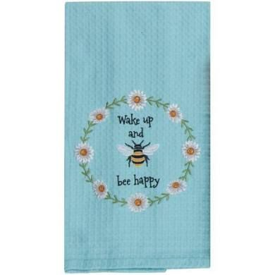 Waffle Towel, Garden Bee, Kitchen Towels, By Kay Dee Designs