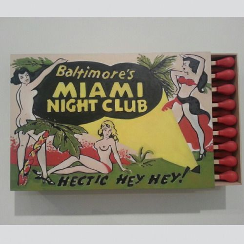 J'adore #vintage #graphicdesign #art #sculpture #matchbox #Miami #artbasel  (at Art Basel Miami Design District)