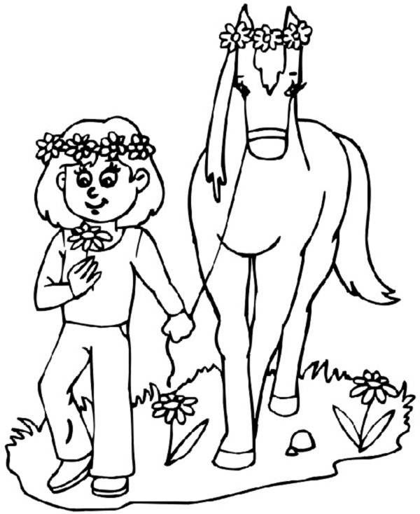 Horse Coloring Pages For Girls | Coloring Pages Trend ...