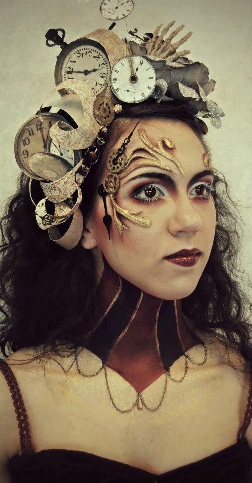 Steampunk Makeup Gears