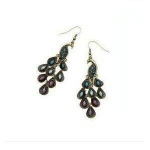 3db87462507893 Earrings. | Peacock World / New Room | Peacock earrings, Earrings ...
