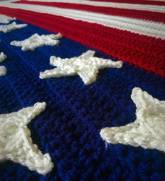 Mto Full Size Extra Large American Flag Afghan 45x70 Large Flag
