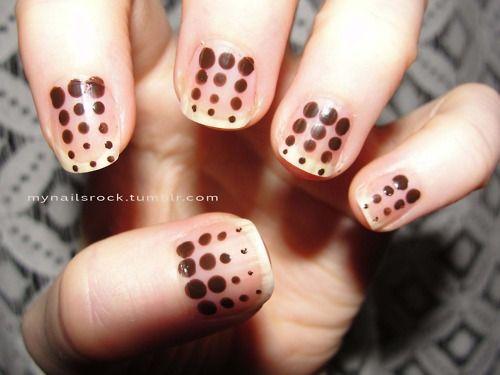 brown dots #nailart