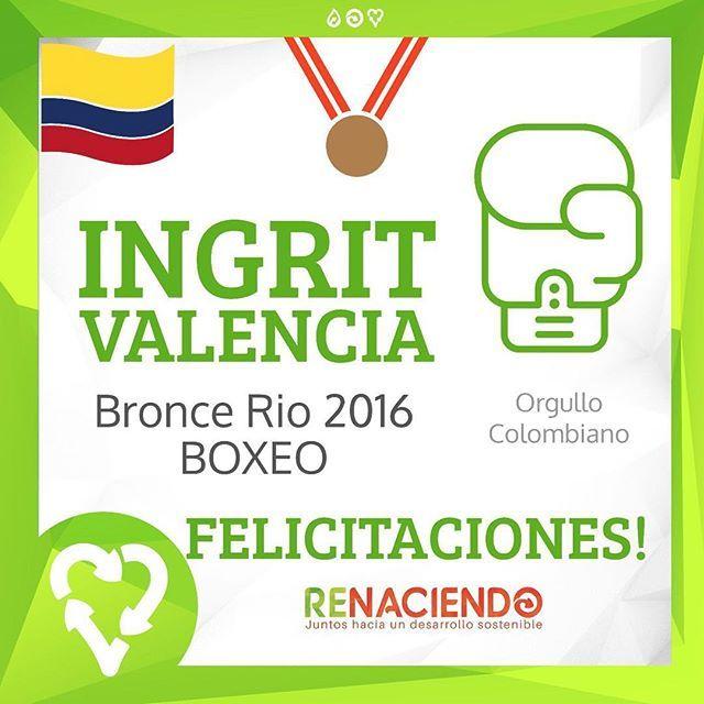 Felicitaciones 🎉#ingritvalencia #boxeo #colombia #olimpicos2016…