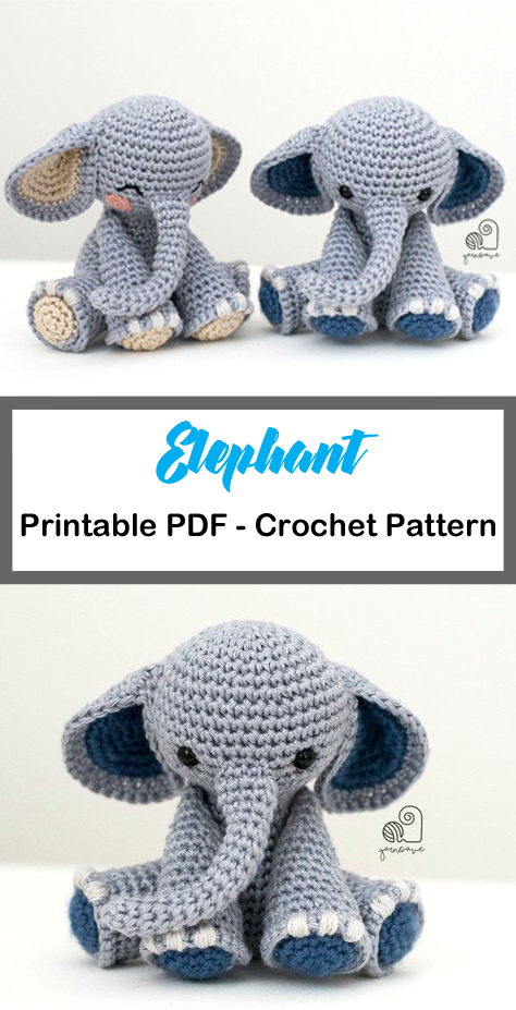 Pattern crochet elephant doll patterns amigurumi Elephant | Etsy | 927x474