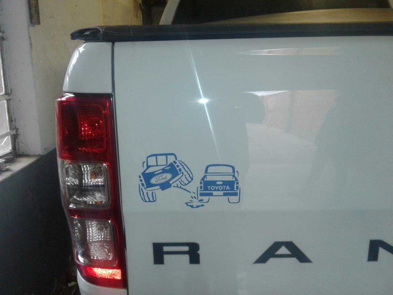 Ford Toyota Bumper Sticker Done By M Botha Designs Www Mbothadesigns Co Za Bumper Stickers Toyota Bumpers [ 960 x 1280 Pixel ]