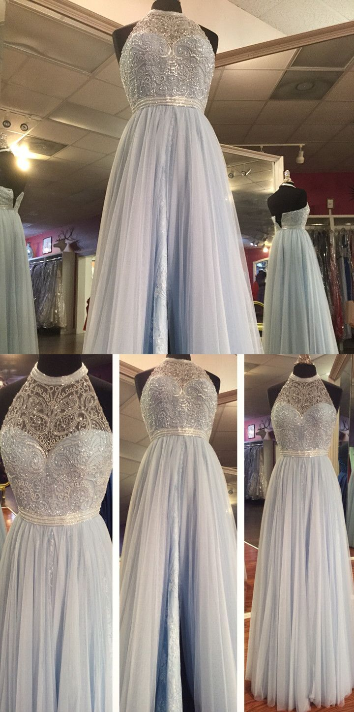 long prom dress sky blue long prom dress elegant halter long