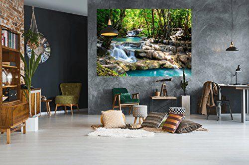 Pmp de 4life décoration murale cascade dans la forêt décoration murale image haute résolution hd poster xxl 140 cm x 100 cm naturel pour conception photo
