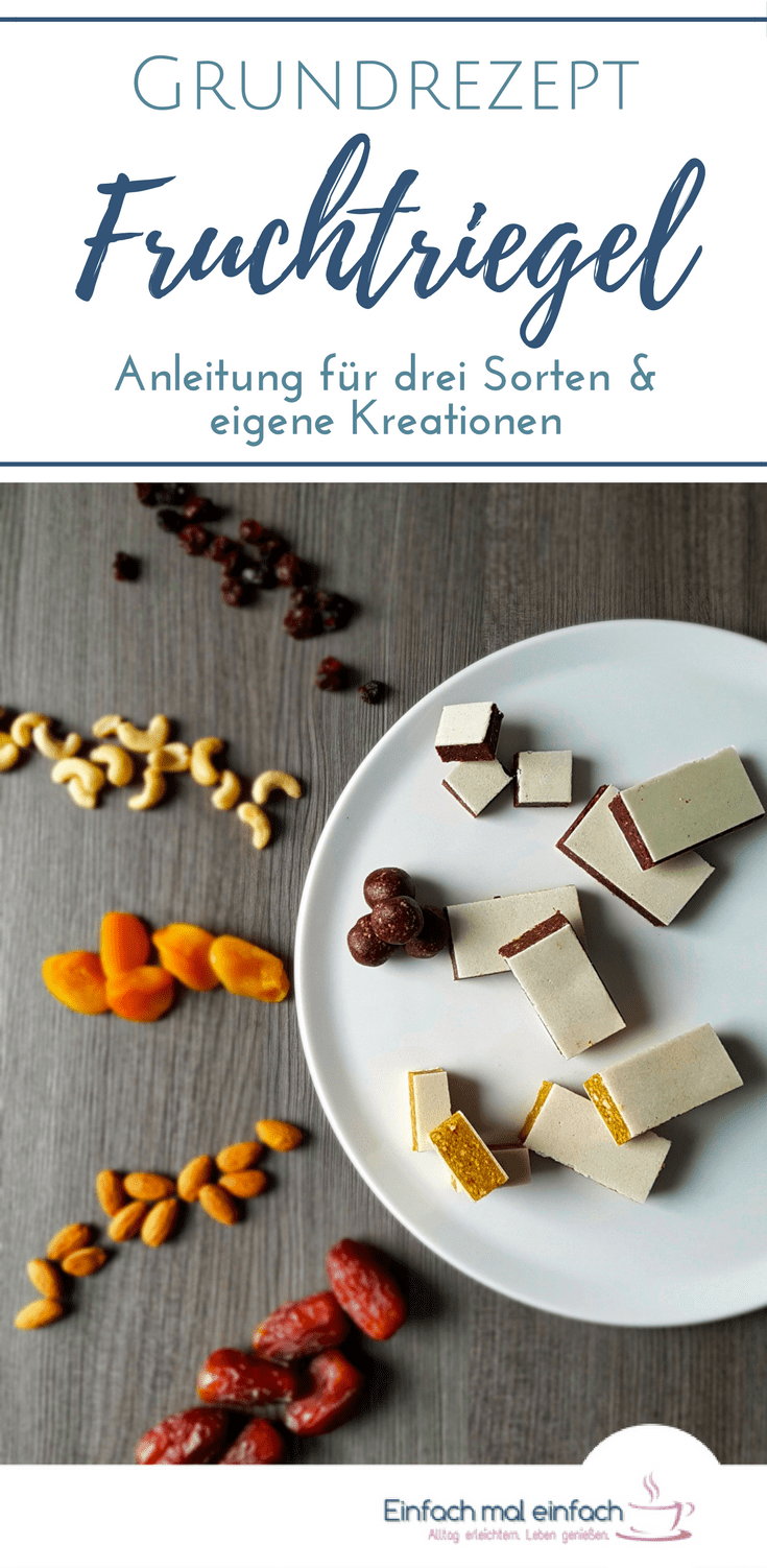 Fruchtriegel - ein Grundrezept und drei Variationen | Recipe ...