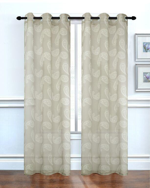 Paisley Paisley Semi Sheer Grommet Curtain Panels Panel Curtains