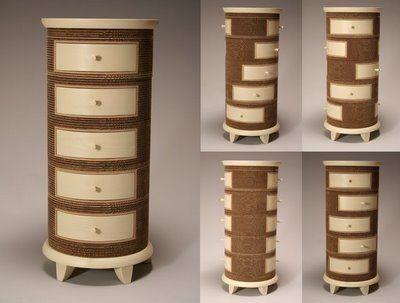 Corrugated Cardboard Functional Furniture