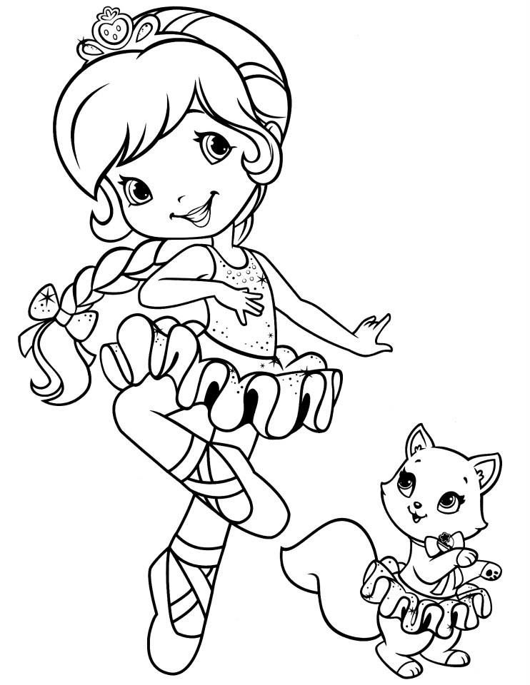 Strawberry Shortcake and Custard dancing ballet | Coloriages ...