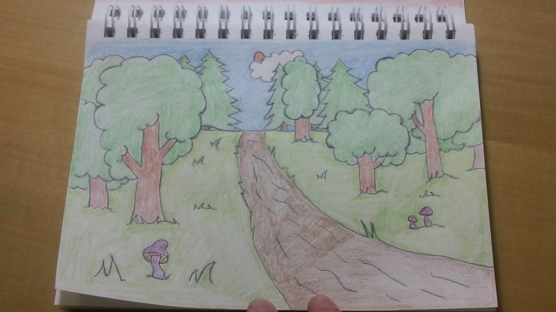191 How To Draw Cool Easy Cartoon Forest Background Simple Cartoon Easy Cartoon Drawings Drawings With Meaning
