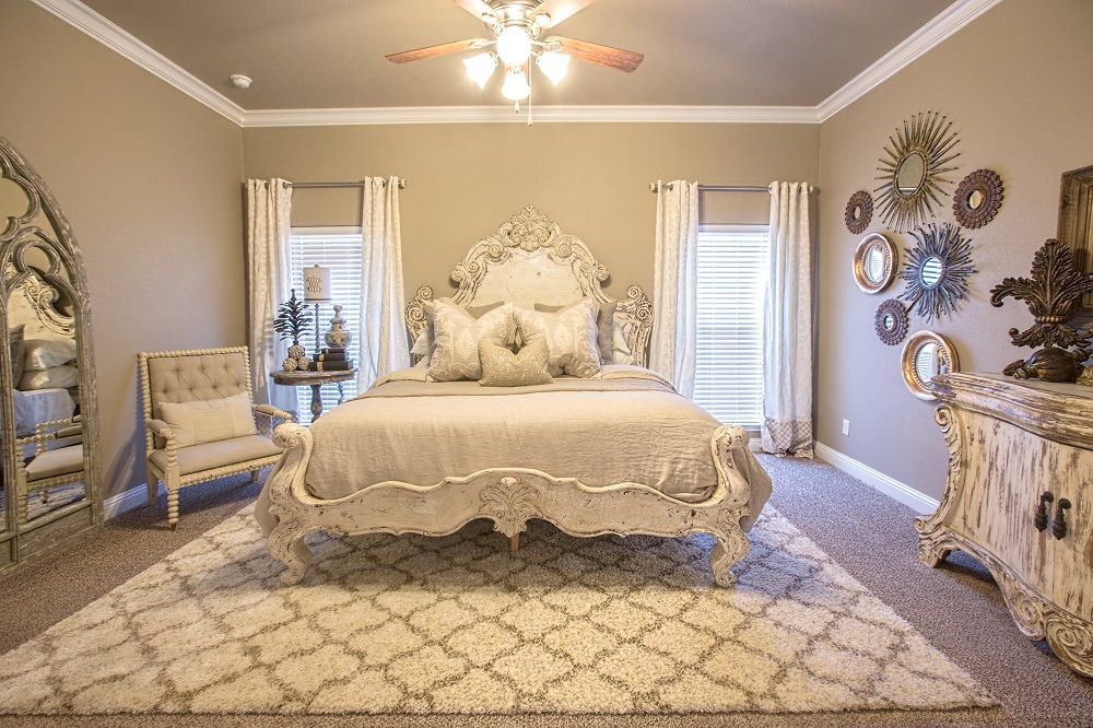 Master bedroom of the Rebecca For more