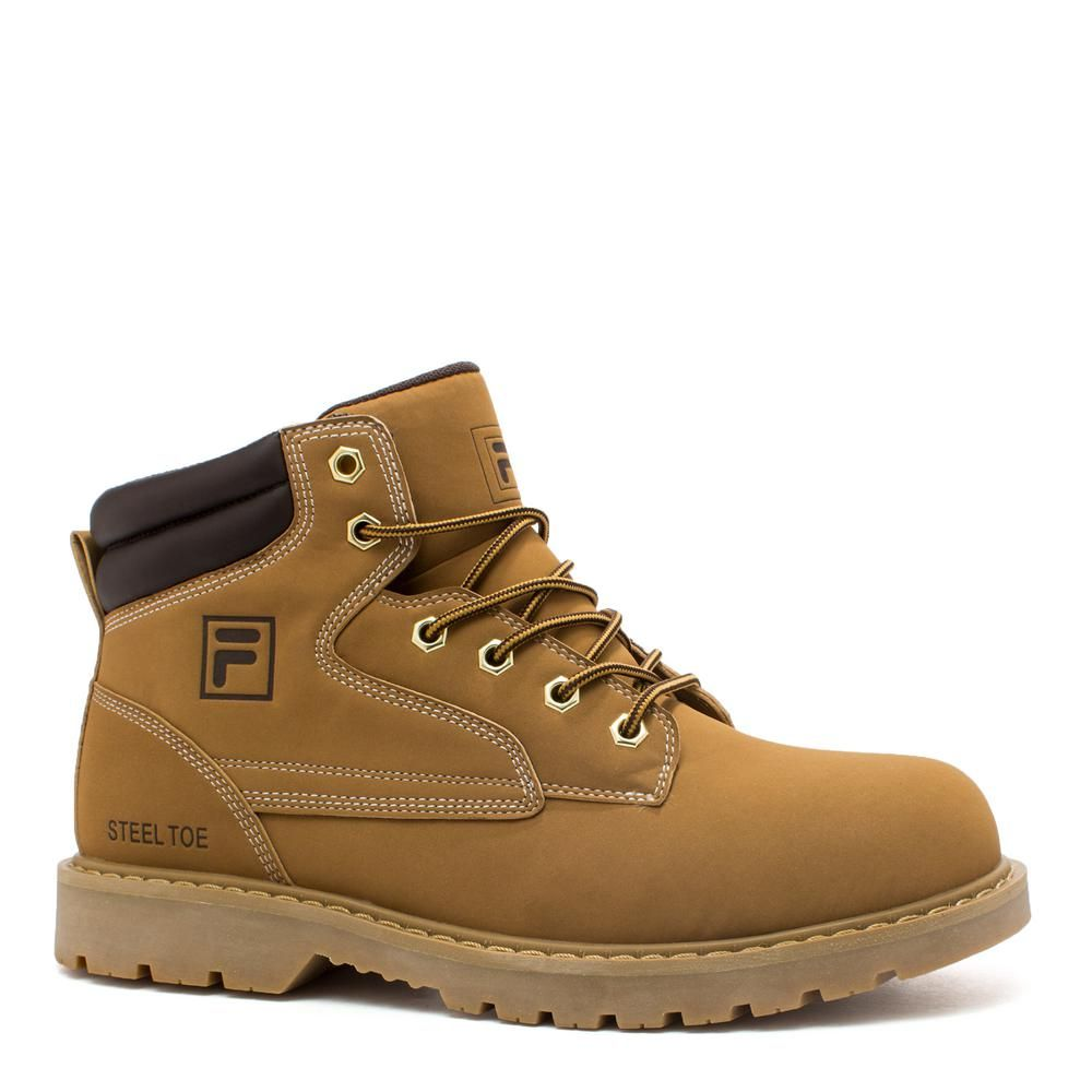 Fila Men's Landing Steel 8'' Work Boots Steel Toe Wheat