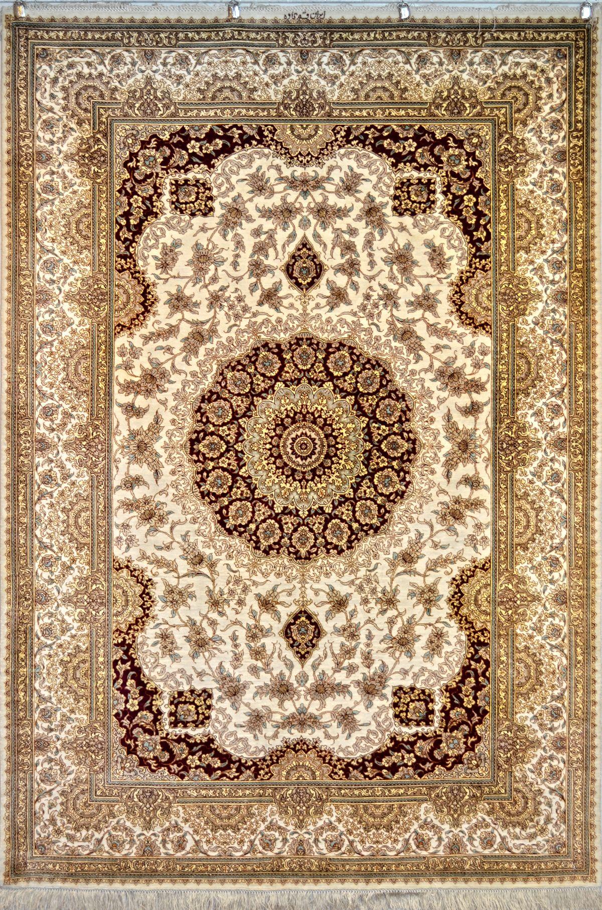 Kaveh Signed Qum Qom Silk Persian Rug You Pay 6 900 00 Retail Price 13 800