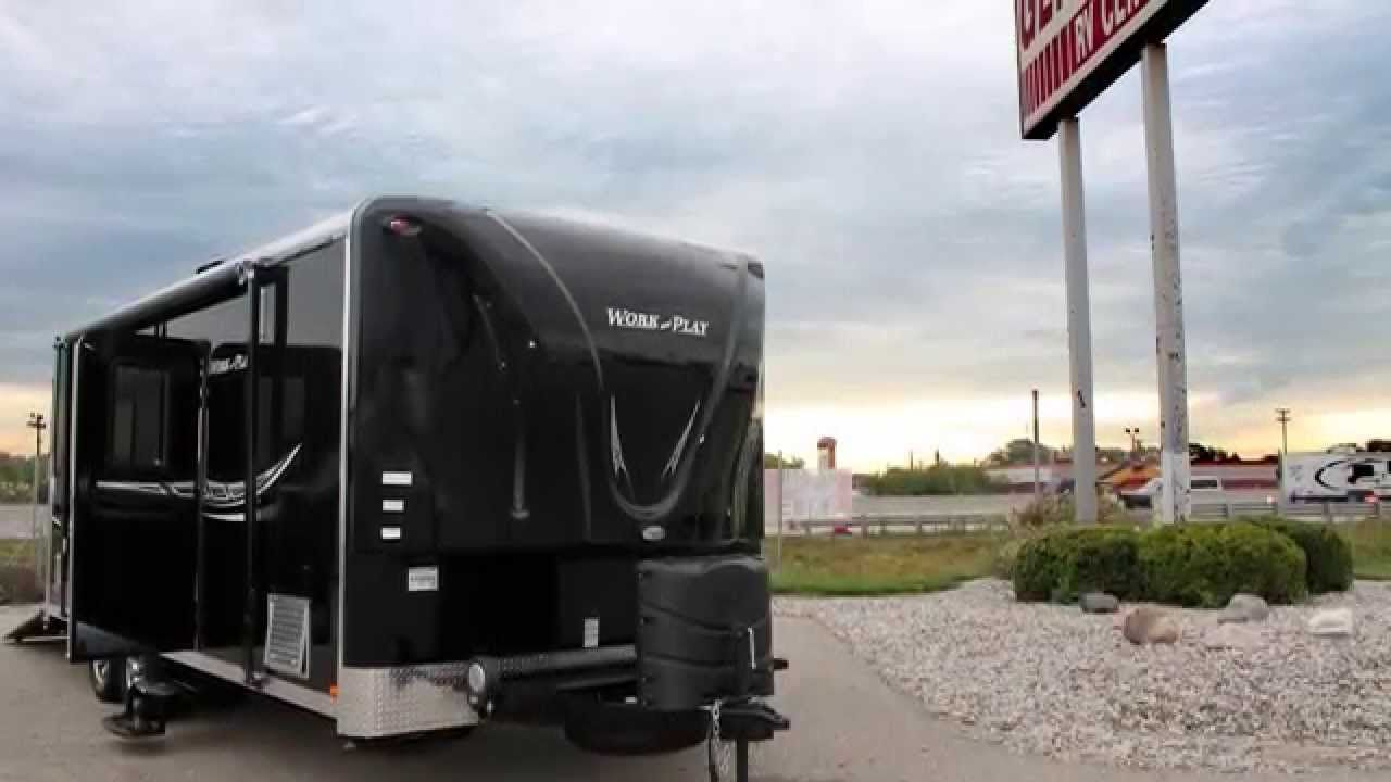Work And Play 18ec Toy Hauler Travel Trailer General Rv Center Presents A Short Introduction On The New 20 Toy Hauler Travel Trailer Travel Trailer Toy Hauler