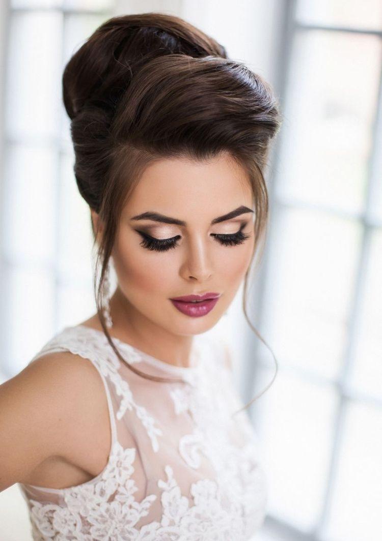 Hochzeit Make Up Und Frisur Leinwandbilder Bilder Junge Frau