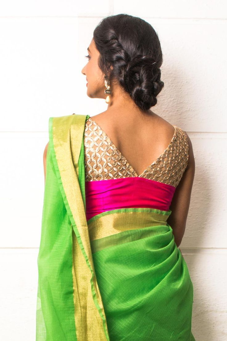 Blouse designs saree blouse back designs blouses neck designs 30 jpg - Back Neckline Blouse Design