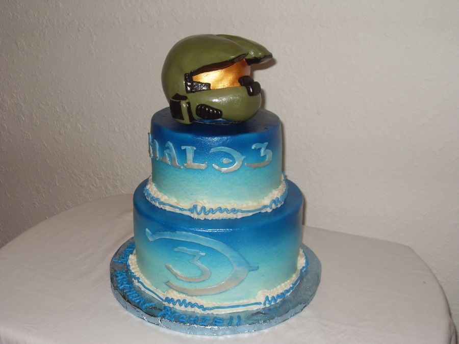 richies halo birthday cake Birthday cake ideas Pinterest