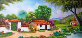 Resultado De Imagen Para Paisajes Para Dibujar Pintados Mexican Paintings Landscape Paintings Landscape Art