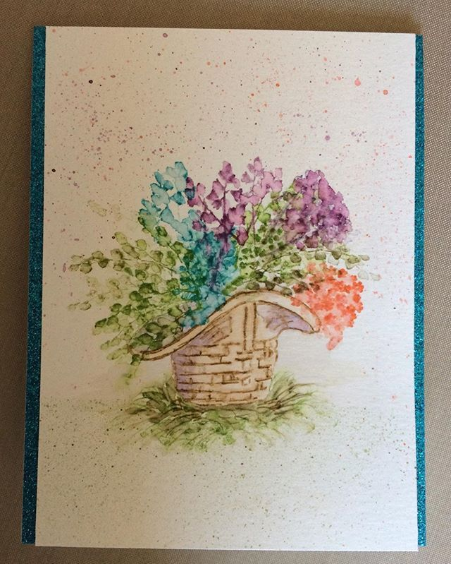 Card Making Ideas Rubber Stamp Techniques Part - 26: Art Impressions Rubber Stamps: Wonderful Watercolor Handmade Card. Flowers,  Floral, Foliage,