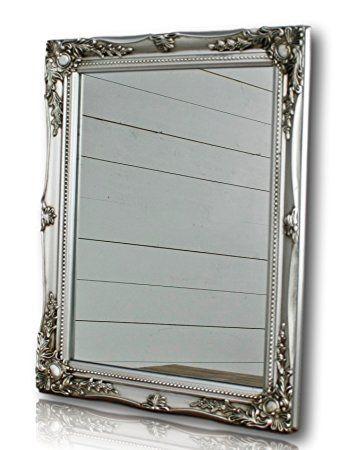 Specchio da parete rettangolare con cornice colorata in stile antico ...