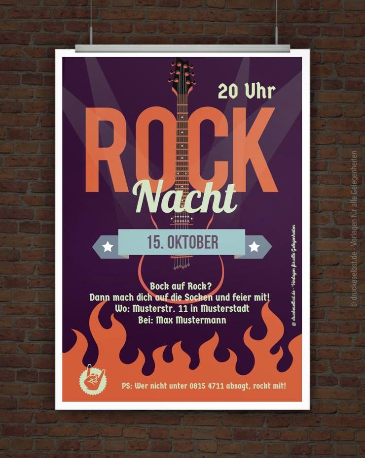 rockmusik, etwas zu trinken und diese einladung – mehr brauchst du, Einladung
