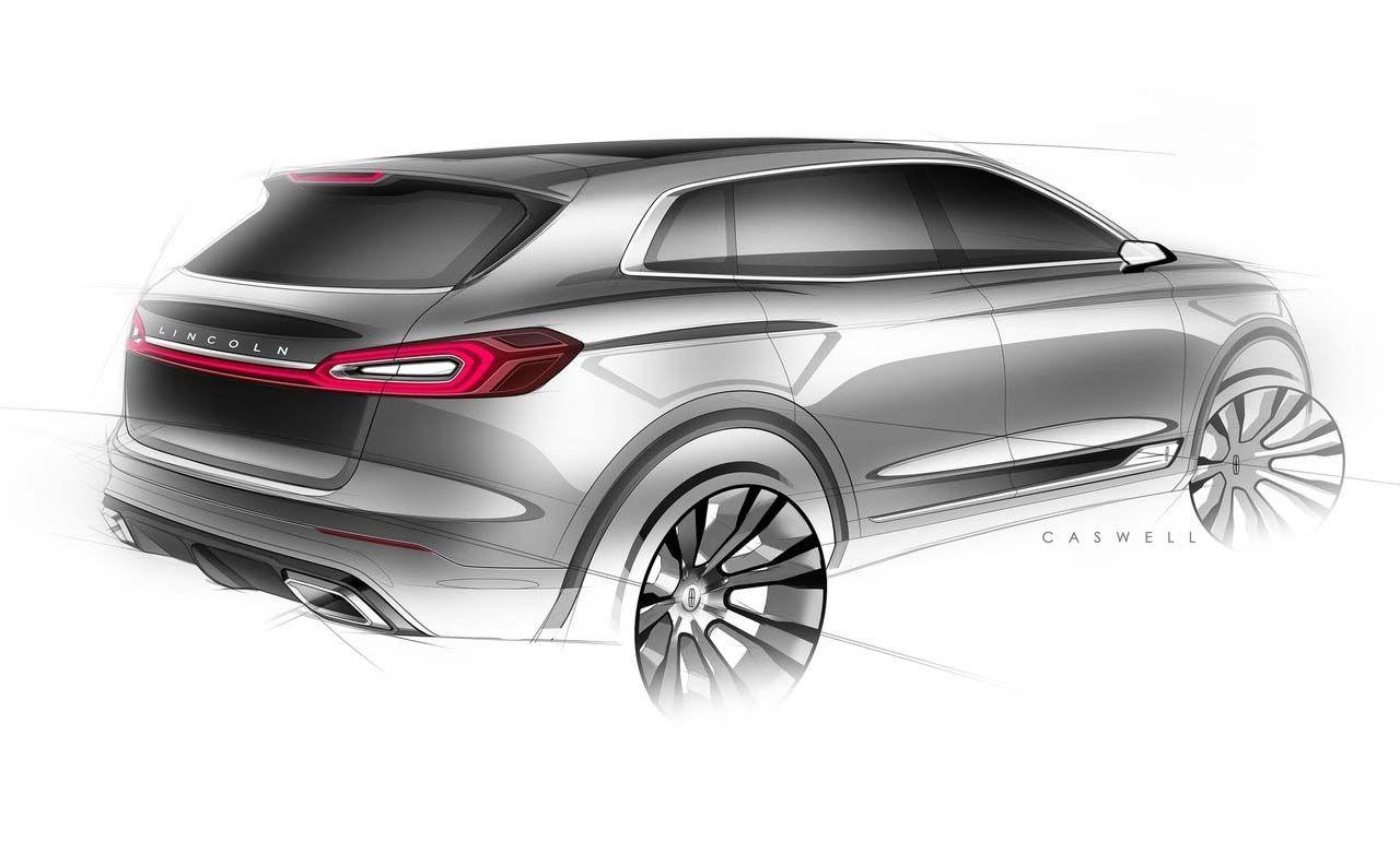 Lincoln Mkx Concept Suv Crossover Sketch Caswel Suv