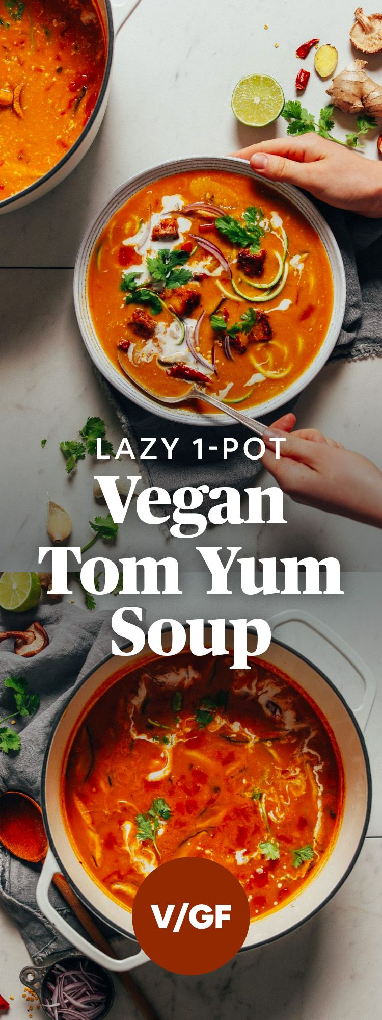 Easy 1-Pot Vegan Tom Yum Soup | Minimalist Baker Recipes