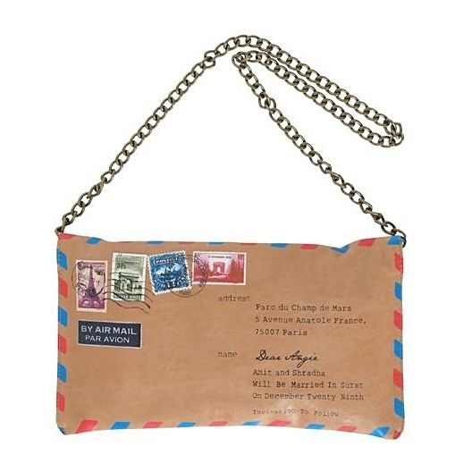 Vintage Envelope Chain Bag A Great Idea For Transfer Paper