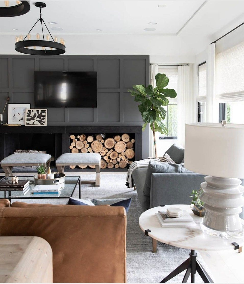 12 Ideas To Decorate Around A Tv Black Accent Wall Living Room Accent Walls In Living Room Family Room Walls