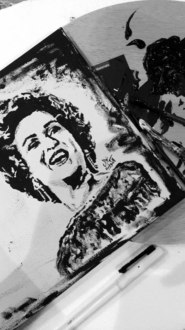 رسمتي للفنانة نوال الكويتية بطريقة فن البوب رسم Art Drawing فن نوال الكويتية Art Pop Art Cool Art