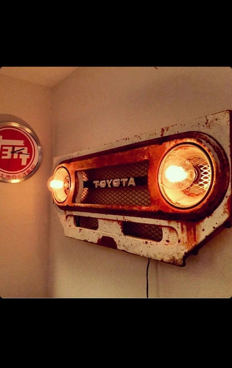 Truck grill wall lights #vintageindustrialfurniture