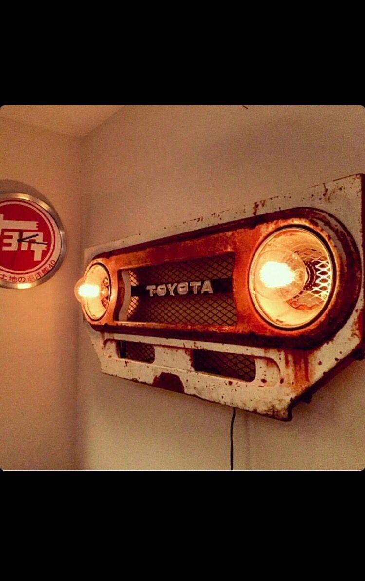 Truck grill wall lights #garageideasstorage