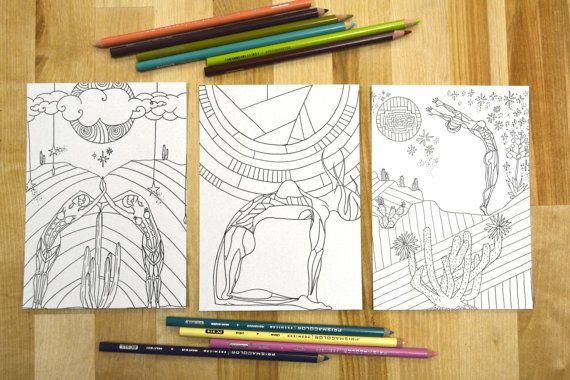 items similar to 5 yoga cards yoga anatomy cards yoga coloring cards coloring cards greeting cards post cards adult coloring cards anatomy coloring - Yoga Anatomy Coloring Book
