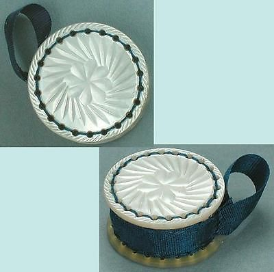 Antique Carved Mother Of Pearl Emery Cushion * English * Circa 1850