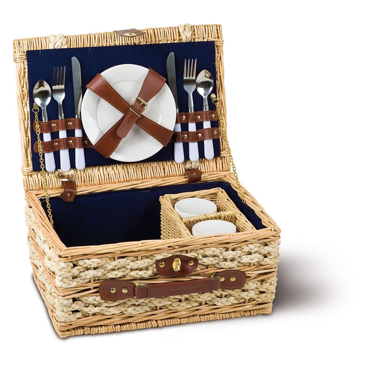 luxus picknickkorb f r romantische stunden zu zweit wohnen leben haushalt korbwaren. Black Bedroom Furniture Sets. Home Design Ideas