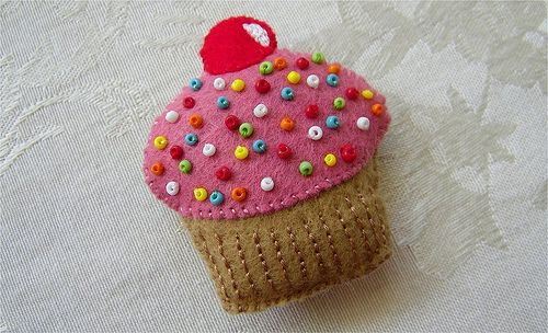 """Make 3D and use for pin cushion instead of sewing beads on """"icing"""""""