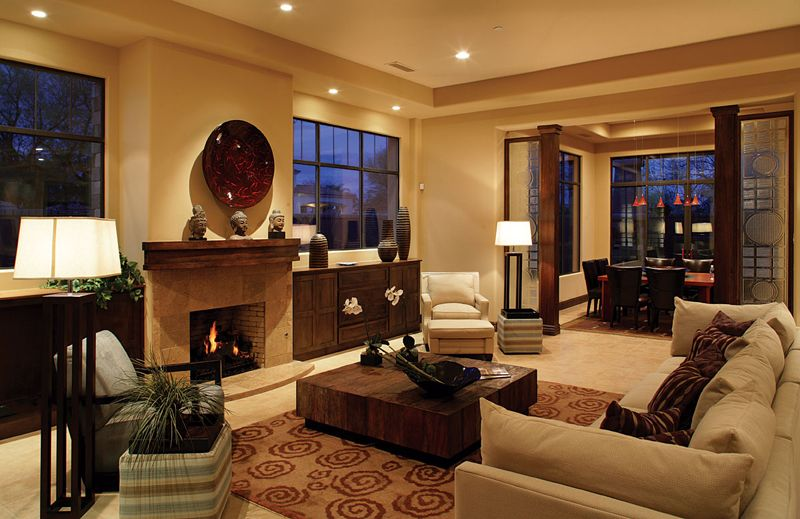 Love The Floor Lamps And The Recessed Lighting Is My Dream For Any Room I Do Not Like Overhead Lighting In Any Room Residential Interior Design Eclectic Design Interior Design