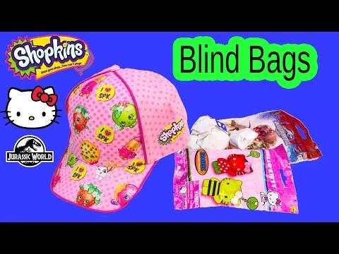 Shopkins Baseball Cap Hat Surprise Blind Bags Jurassic World Handmade Hello Kitty Toy Unboxing Video Youtube Hello Kitty Toys Blind Bags Shopkins