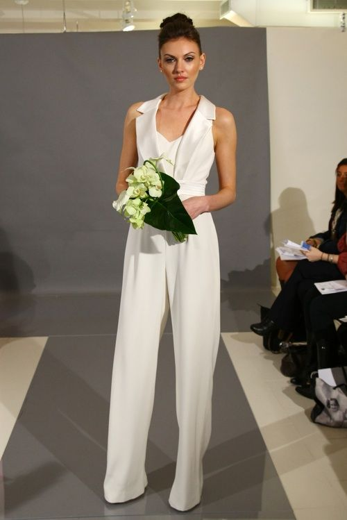 white pantsuit, I find this hideous, but on another note, how ...