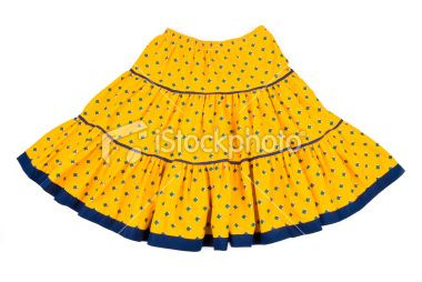 Blue on yellow Provençal mini-skirt #Provence #France #Europe #culture #travel #fashion #clothing #skirt #pattern #yellow #material #cloth