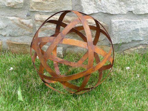 Deko Kugel Metall Edelrost O 30 Cm Dm10015 Amazon De Garten Blumen Fur Garten Deko Edelrost