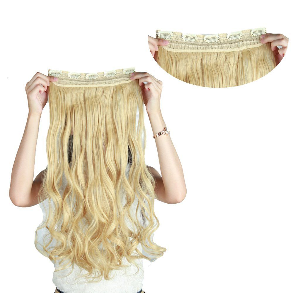 Snoilite straight curly wavy one piece clip in hair