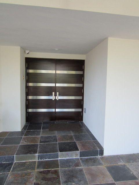 Contemporary Double Entry Doors.    #doors #frontdoor #entrance #doordesign