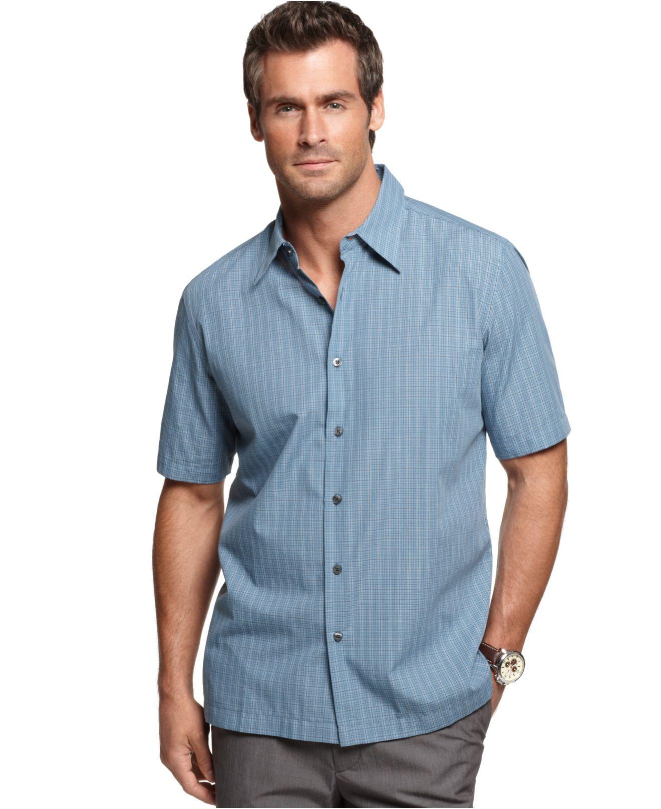 bd0ea264b1ef John Ashford Shirt, Mineral Plaid Shirt - Mens Casual Shirts - Macy's