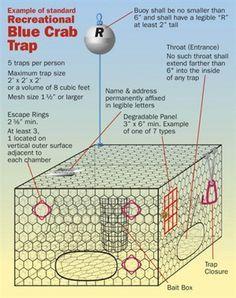 Blue crab trap diagram rays crustaceans pinterest crab trap blue crab trap diagram ccuart Images