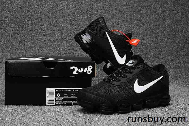 New Coming Nike Air VaporMax 2018 KPU Black White Women Men