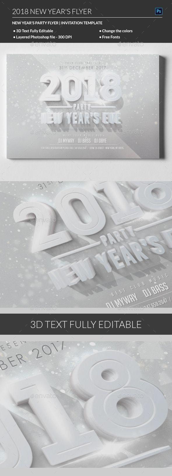 2018 New Year Flyer - #Events Flyers | Event Flyer | Pinterest ...